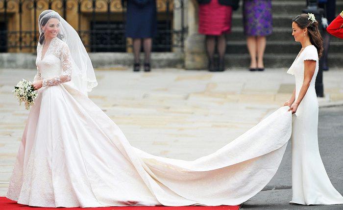 5abdcdc8c869e فستان زفاف الأميرة «كايت ميدلتون» - 400 ألف دولار